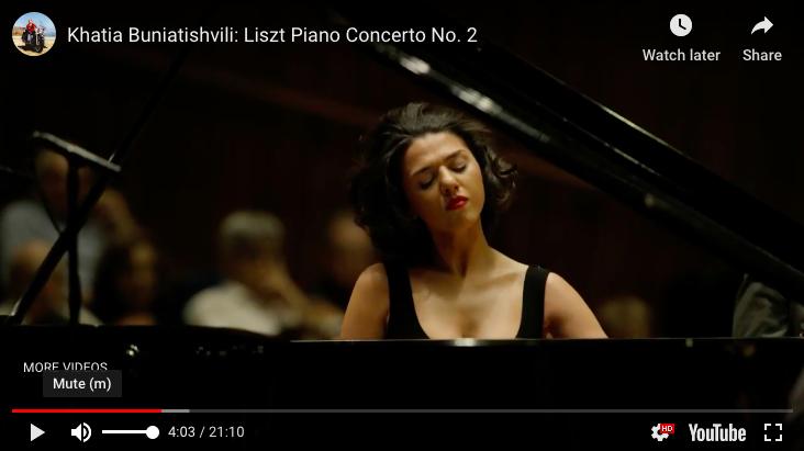 Liszt - Piano Concerto No 2 in A Major - Buniatishvili, Piano