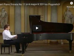 Mozart - Piano Sonata No 11 in A Major - Pogorelich, Piano