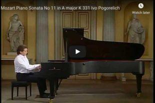 Mozart - Piano Sonata No 11 in A Major - Pogorelich, Piano