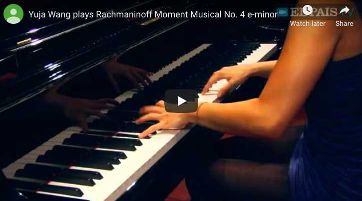 Rachmaninoff - Moment Musical No 4 - Wang, Piano