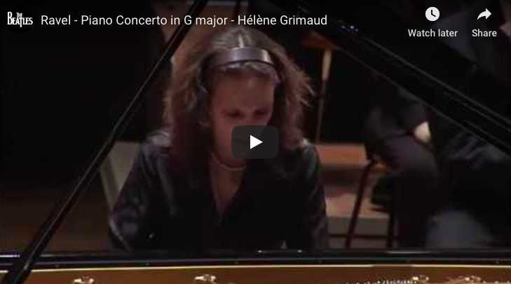 Ravel - Piano Concerto in G Major - Grimaud, Piano