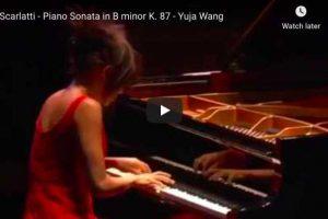 Scarlatti – Sonata K 87 – Wang, Piano