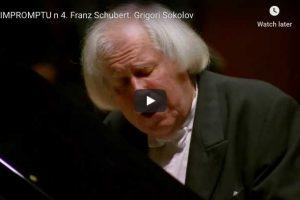 Schubert – Impromptu Op. 90 No. 4  – Sokolov, Piano