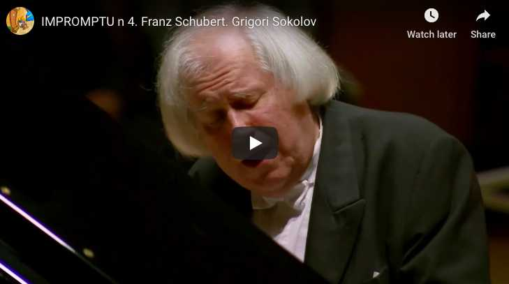 Schubert - Impromptu Op 90 No 4 in A-Flat Major - Sokolov, Piano