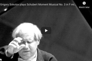 Schubert - Moment Musical No 3 in F Minor - Sokolov, Piano