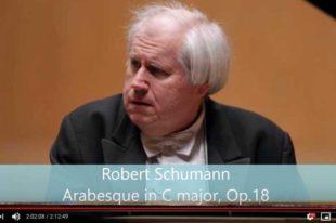 Schumann - Arabesque - Sokolov, Piano