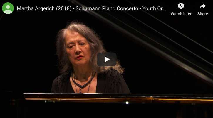 Schumann - Piano Concerto in A Minor - Argerich, Piano