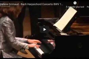 Bach – Harpsichord Concerto No. 1 – Grimaud, Piano