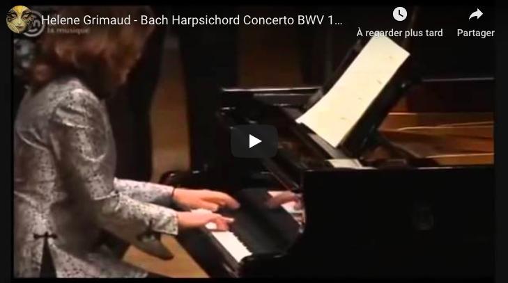Bach - Harpsichord Concerto No 1 - Grimaud, Piano