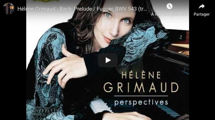 Bach-Liszt - Prelude and Fugue in A Minor, BWV 543 - Grimaud, Piano