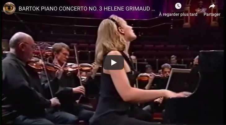 Bartok - Piano Concerto No 3 in E Major- Grimaud, Piano