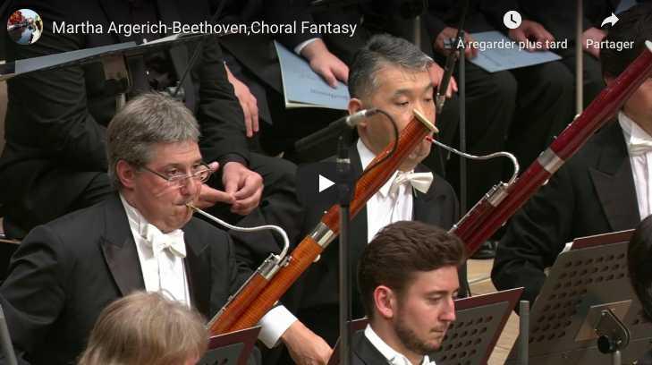 Beethoven - Choral Fantasy - Argerich, Piano; Ozawa, Conductor