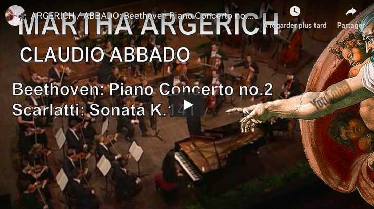Beethoven - Piano Concerto No 2 - Argerich, Piano; Abbado, Conductor