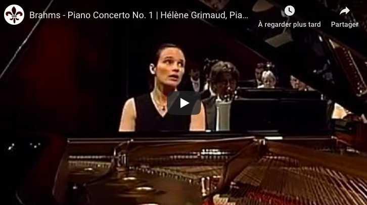 Brahms - Piano Concerto No 1 - Grimaud, Piano
