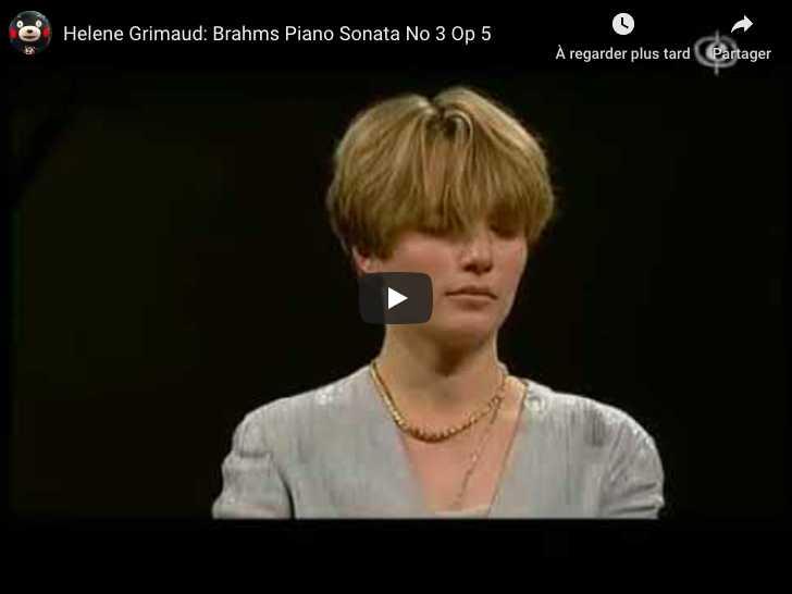 Brahms - Piano Sonata No 3 - Grimaud, Piano