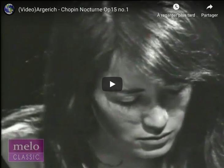 Chopin - Nocturne No 4 in F Major - Argerich, Piano