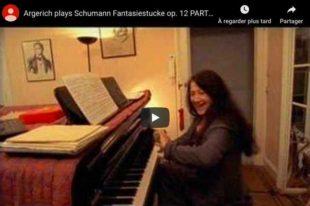 Schumann - Fantasiestucke: Des Abends, Aufschwung - Argerich, Piano
