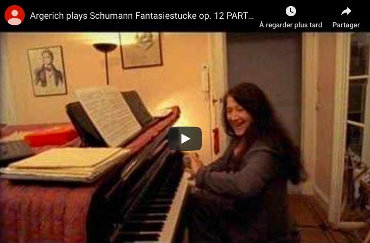 Schumann - Fantasiestucke: Des Abends, Aufschwung - Martha Argerich, Piano