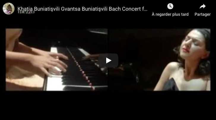 Bach - Concerto for 2 keyboards - Khatia and Gvantsa Buniatishvili
