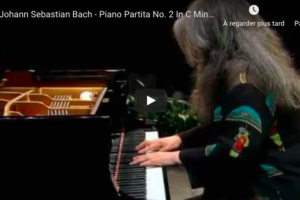 Bach – Partita for Keyboard No 2 in C Minor – Argerich, Piano