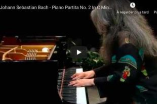 Bach - Partita for Keyboard No. 2 - Martha Argerich