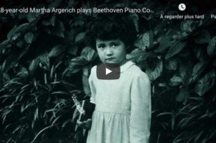 Beethoven - Concerto No. 1 - Argerich (8 years old), Piano