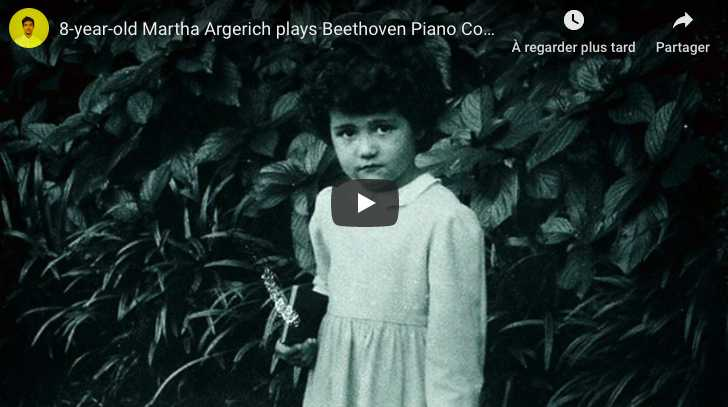 Beethoven - Piano Concerto No. 1 - Argerich (8 years old), Piano