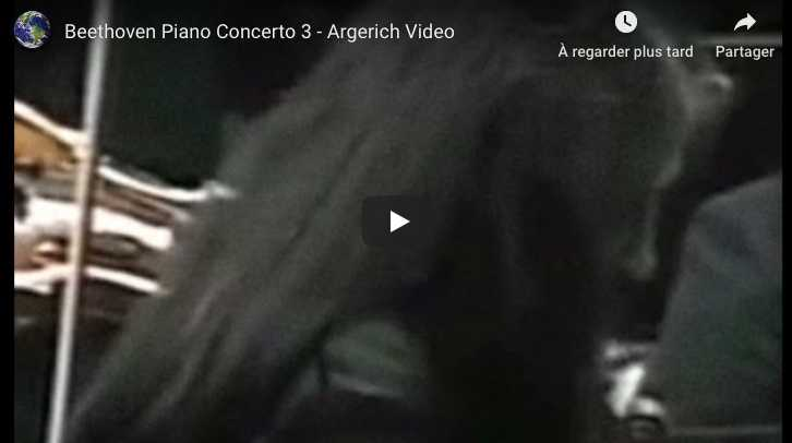 Beethoven - Piano Concerto No 3 - Argerich, Piano