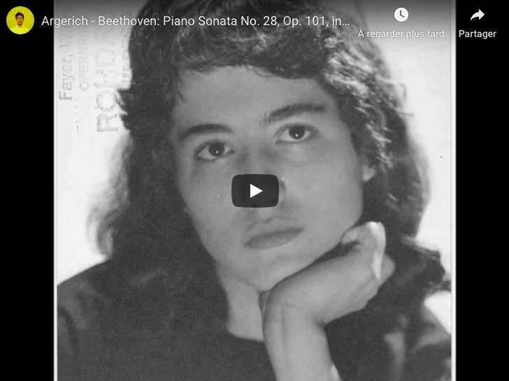 Beethoven - Piano Sonata No 28 in A Major - Argerich, Piano