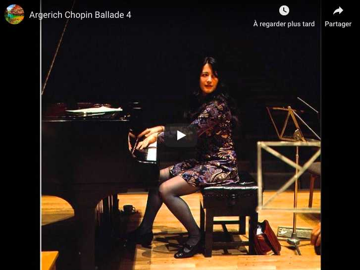 Chopin - Ballade No 4 in F Minor - Argerich, Piano