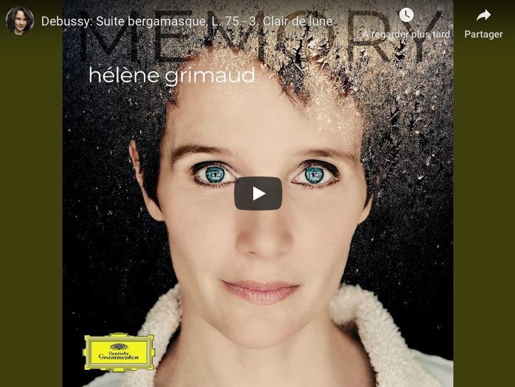 Debussy - Clair de Lune (Moonlight)- Grimaud, Piano