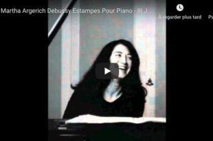 Debussy - Jardins Sous la Pluie (Estampes) - Argerich, Piano