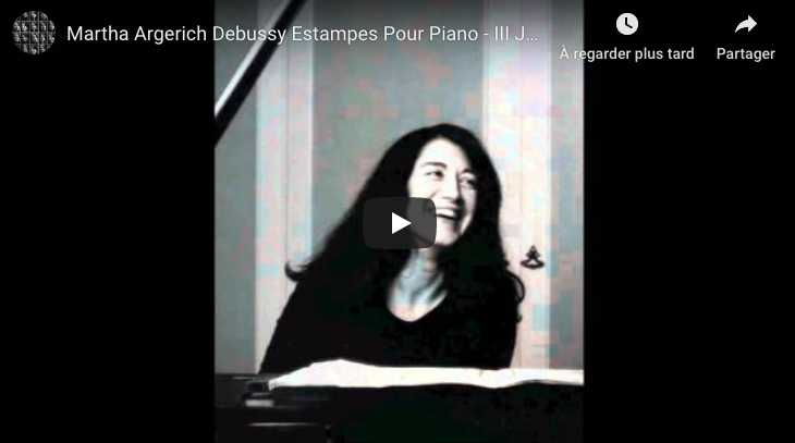 Debussy - Jardin Sous la Pluie (Estampes) - Argerich, Piano