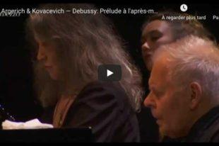 Debussy - Prelude à l'Après-midi d'un Faune - Argerich & Kovacevich, Piano