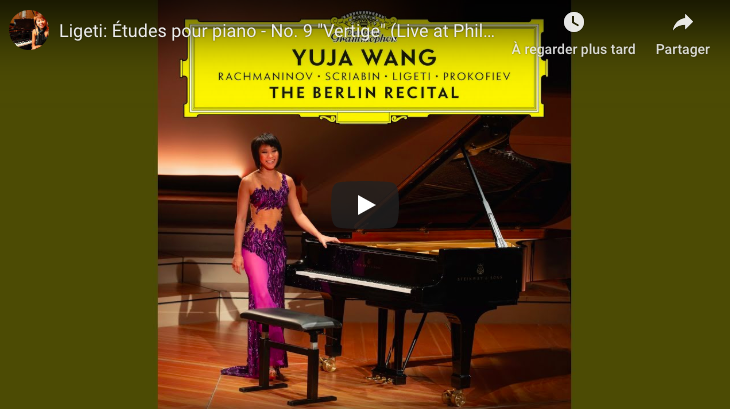 Ligeti - Etude 9, Vertige - Wang, Piano