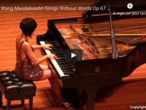 Mendelssohn - Songs Without Words Op 67 No 2 - Wang, Piano