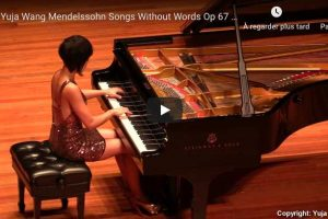 Mendelssohn – Songs Without Words Op. 67 No. 2 – Wang, Piano
