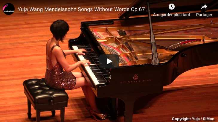 Mendelssohn - Songs Without Words Op 67 No 2 - Wang, Piano
