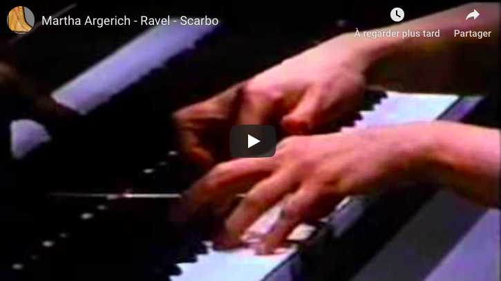 Ravel - Scarbo - Argerich, Piano