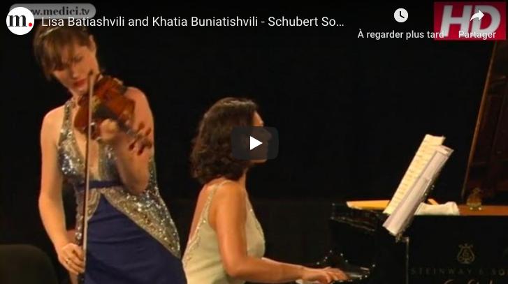 Schubert - Violin Sonata No 4 (Grand Duo) - Buniatishvili, Piano; Batiashvili, Violin