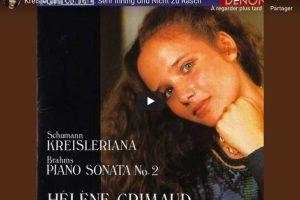 Schumann – Kreisleriana II (Sehr Inning Und Nicht Zu Rasch) – Grimaud, Piano