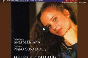 Schumann – Kreisleriana III (Sehr Aufgeregt) – Grimaud, Piano