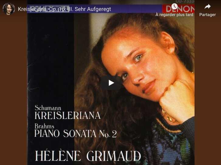 Schumann - Kreisleriana III (Sehr Aufgeregt) - Grimaud, Piano