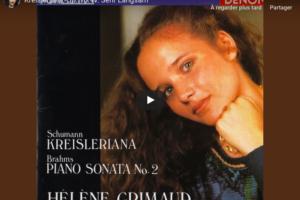 Schumann – Kreisleriana IV (Sehr Langsam) – Grimaud, Piano