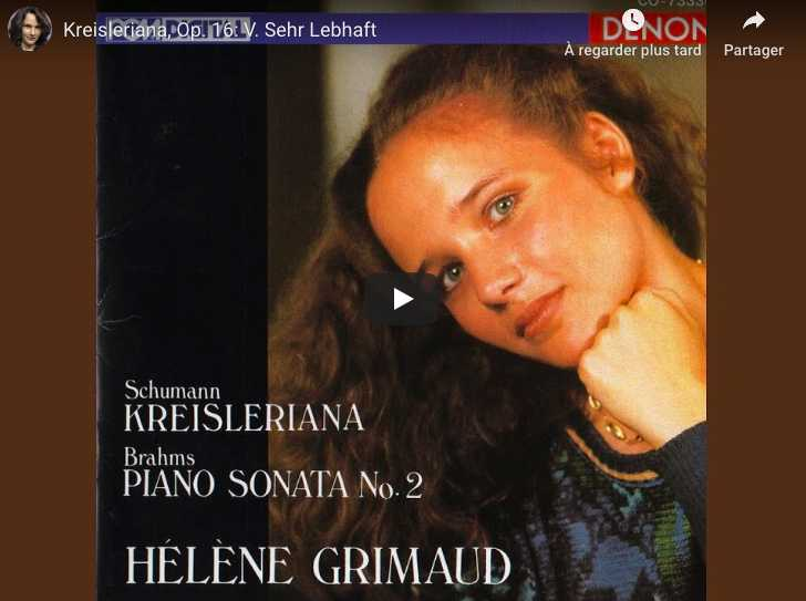 Schumann - Kreisleriana V (Sehr Lebhaft) - Grimaud, Piano