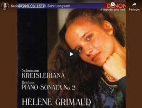 Schumann - Kreisleriana VI (Sehr Langsam) - Hélène Grimaud, Piano