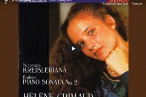 Schumann – Kreisleriana VI (Sehr Langsam) – Grimaud, Piano