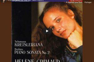 Schumann – Kreisleriana VII (Sehr Rasch) – Grimaud, Piano