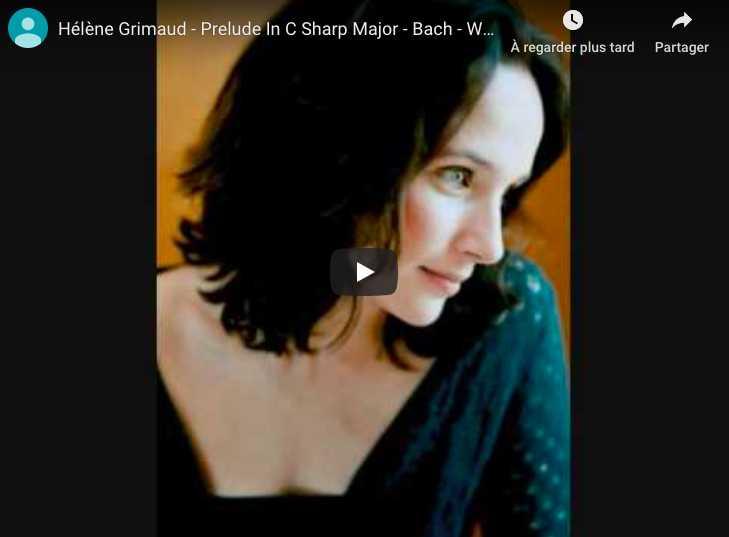 Bach - Prelude No 4, Book II - Hélène Grimaud, Piano