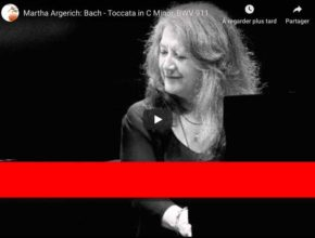 Bach - Toccata in C Minor BWV 911 - Martha Argerich, Piano